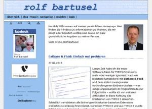 Von 2006 bis 2013 das Erscheinungsbild von www.rolf-bartusel.de