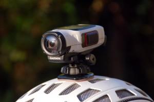 Action-Kamera auf dem Helm