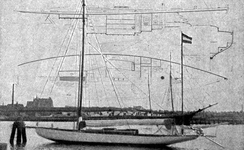 Yacht Stella 1910 im Hafen von Wismar